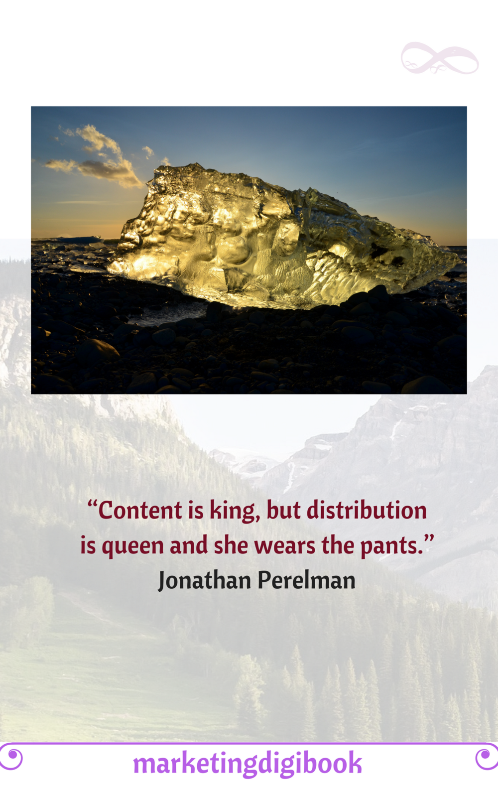 """""""Content is king, but distribution is queen and she wears the pants."""" ~ Jonathan Perelman #Content#Marketing"""