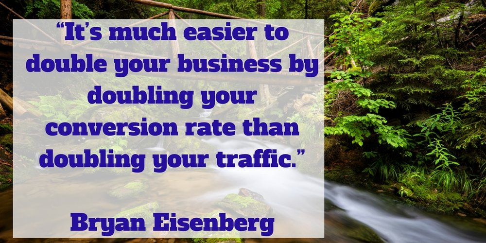 Easier to double your business by doubling your conversion rate than doubling your traffic.jpg