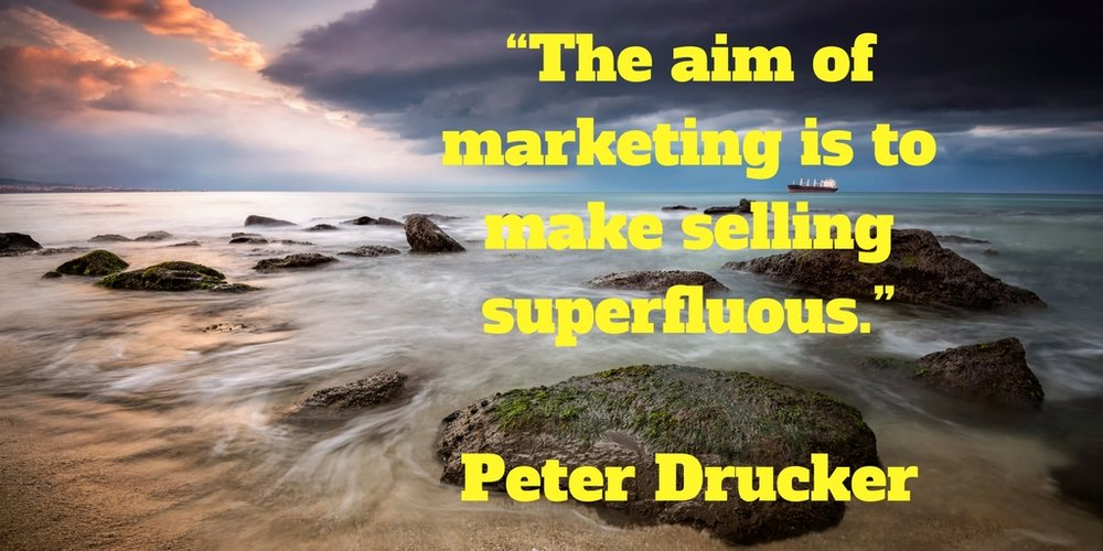 The aim of marketing is to make selling superfluous.jpg