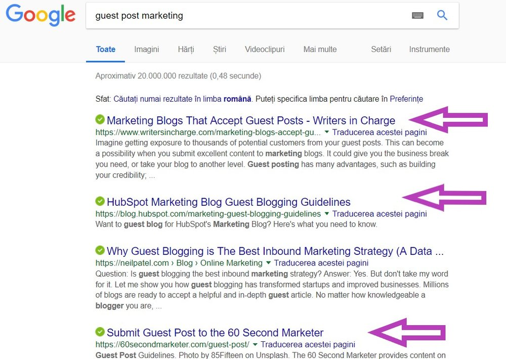 Find guest post options