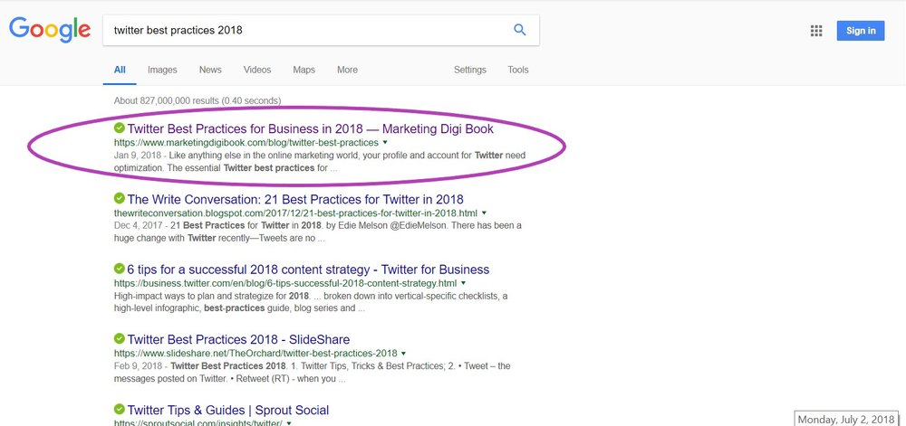 How to rank on google's first page