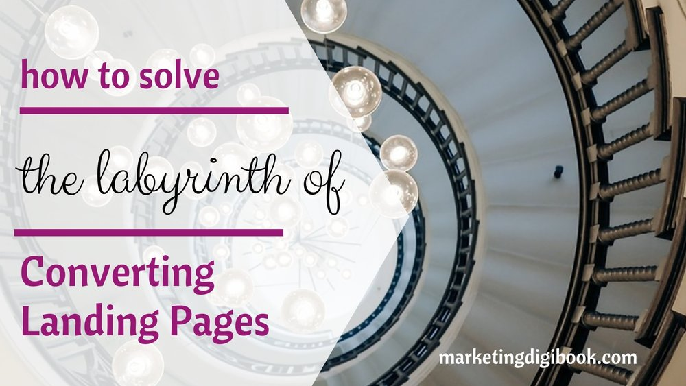 Landing pages best practices how to solve the labyrinth of converting landing pages