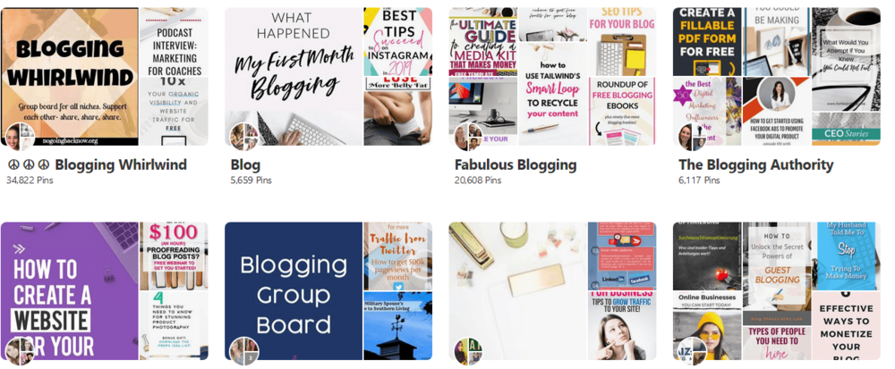 Make money on Pinterest tips - use group boards
