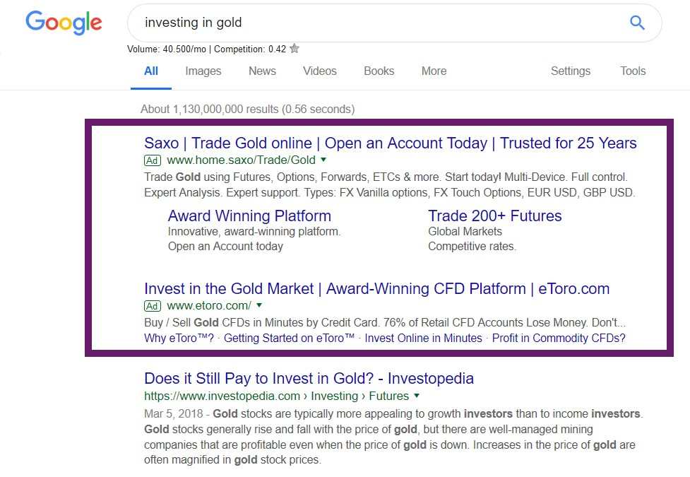 Paid search ads- native ads version