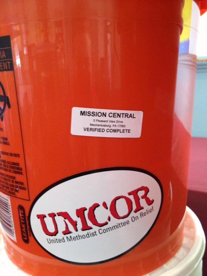 Help build Flood Relief Buckets for UMCOR. - UMCOR, the United Methodist Committee on Relief was one of the first organization on the scene in New Jersey after Super Storm Sandy.  They delivered hundreds of these 5 gallon Flood Buckets to residents up and down the Jersey shore.With the recent hurricanes and flooding in the Gulf Coast and Florida, they again are on the scene distributing Flood Buckets.  We need help to replenish the supply for future events!  If you are able to help please drop any or all of the supplies below at St. Paul's.