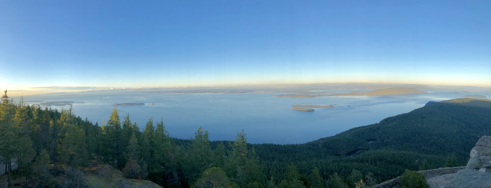 The view from the lookout tower on Mount Constitution, 2,399 feet above sea level