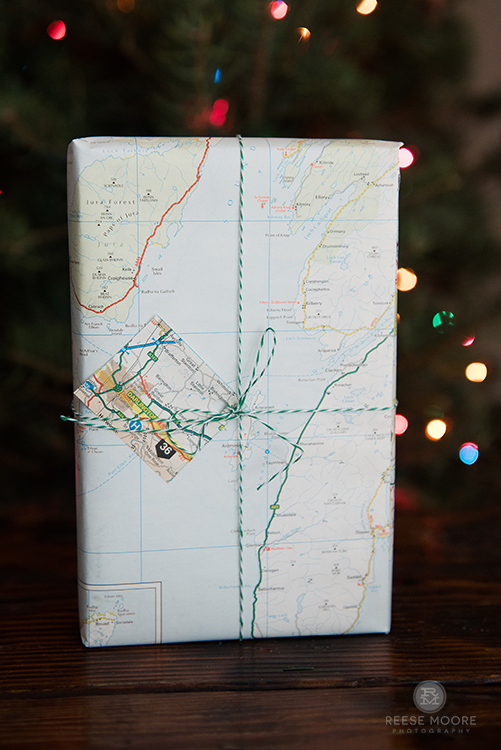 The map made perfect wrapping for a flight attendant friend! -