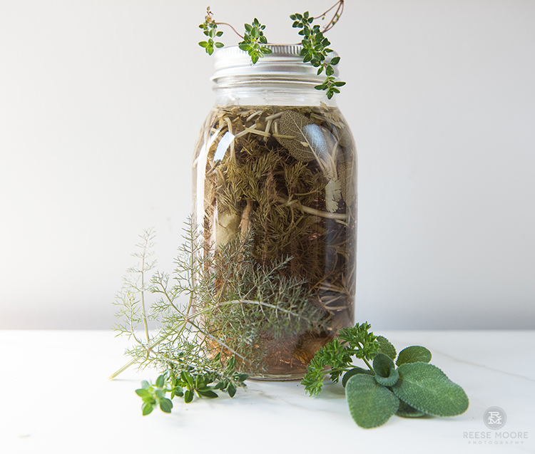 Herb infusion, day 14