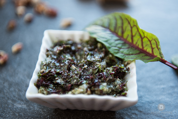 Lemony Red Sorrel Pesto Recipe