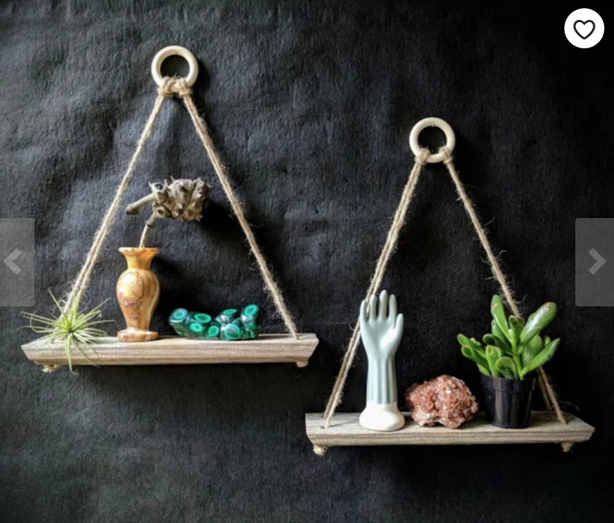 Reclaimed Wood Hanging Shelf