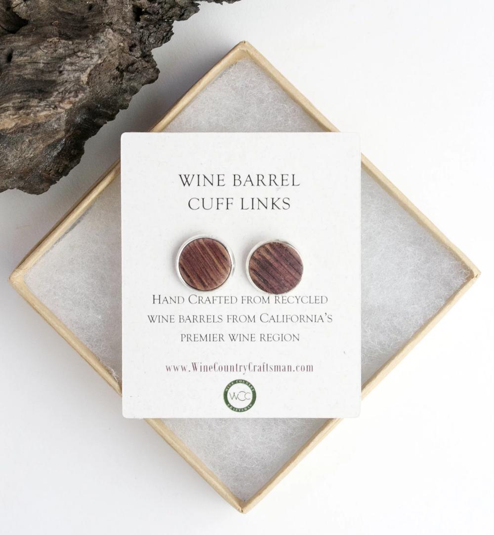 Wine Barrel Cuff Links