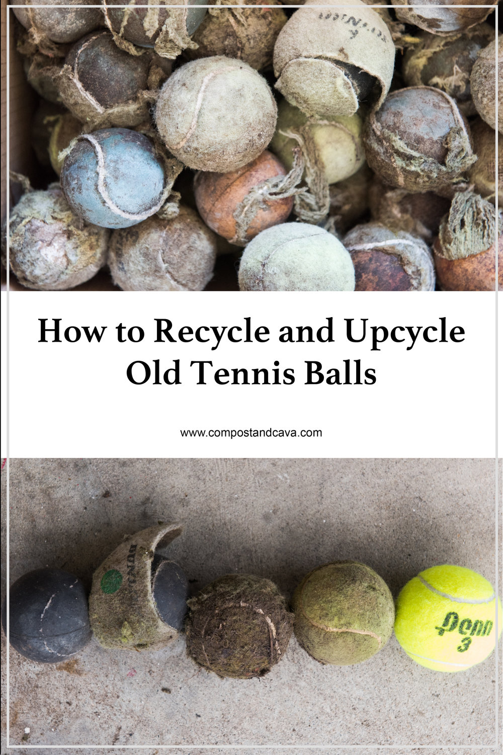 Recycling and Upcycling Old Tennis Balls