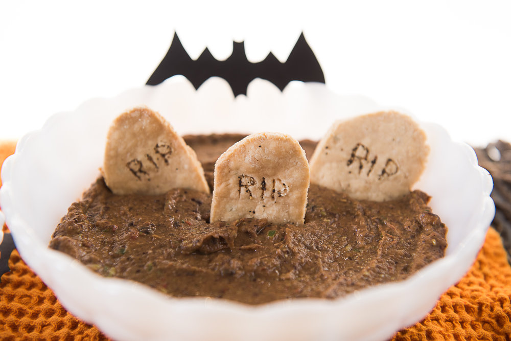 homemade tombstone halloween crackers and black bean dip-1020.jpg