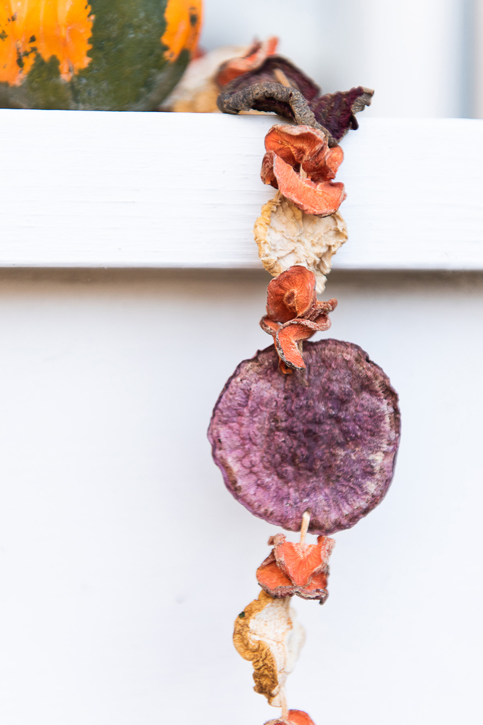 DIY Fall Garland Made From Root Vegetables