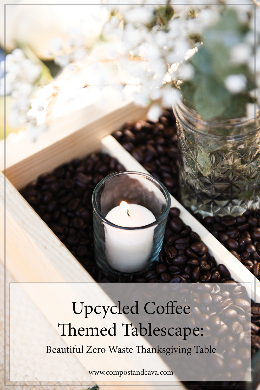 Upcycled Coffee Themed Tablescape