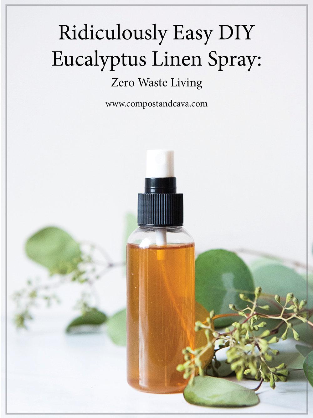 Ridiculously Easy DIY Eucalyptus Linen Spray