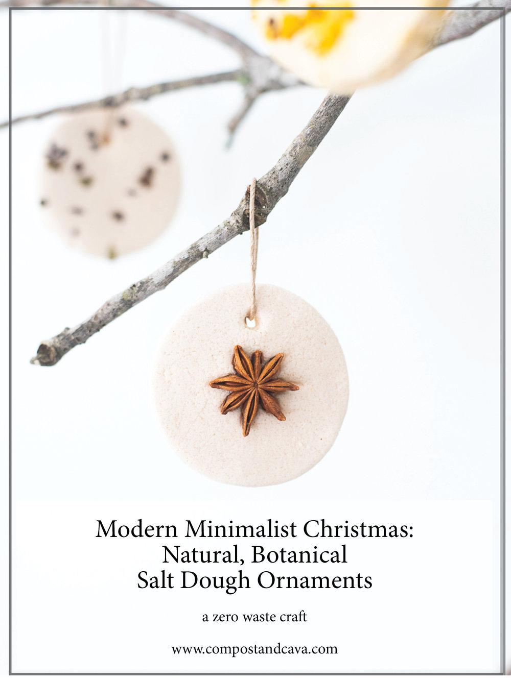 Modern Minimalist Christmas: Natural, Botanical Salt Dough Ornaments