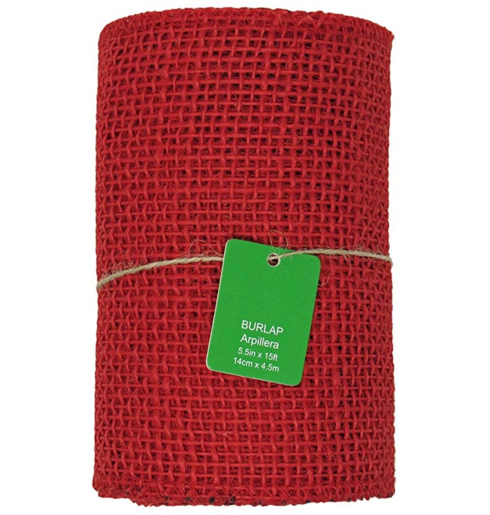 Red Burlap ($11.20)