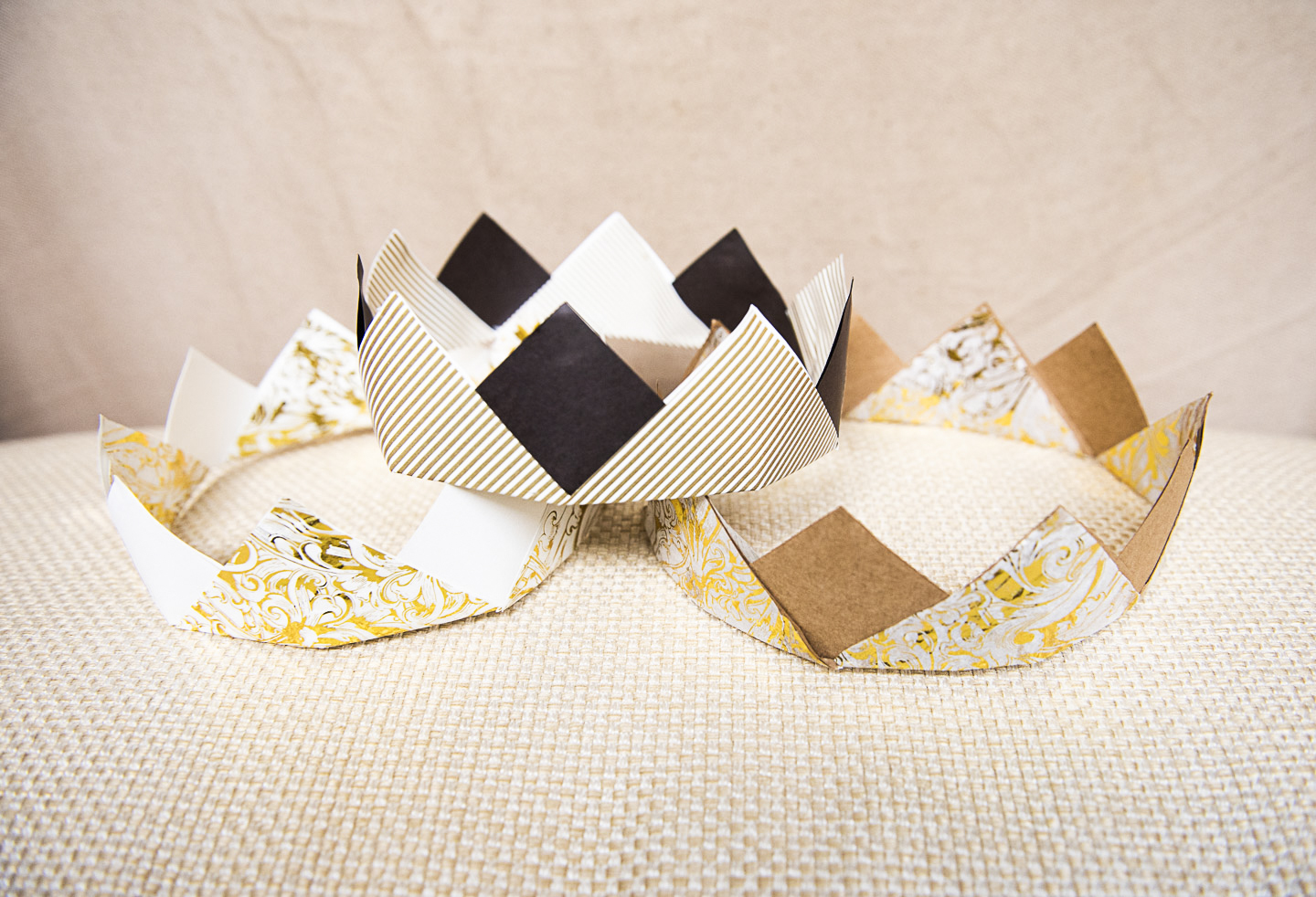 3 Diy Paper Crowns From Upcycled Wrapping Paper Compost