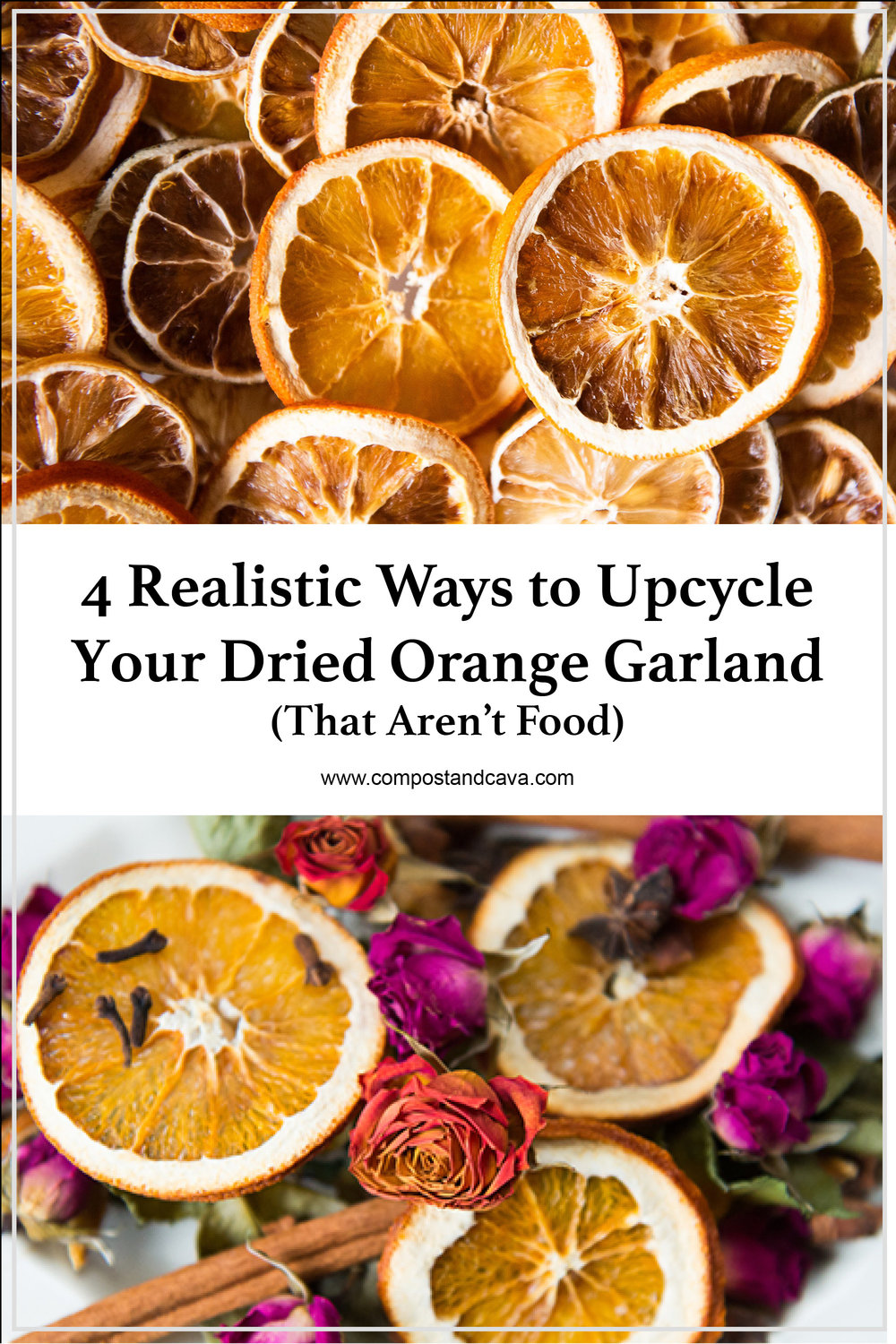 4 Realistic Ways to Upcycle Your Zero Waste Dried Orange Garland (That Aren't Food)