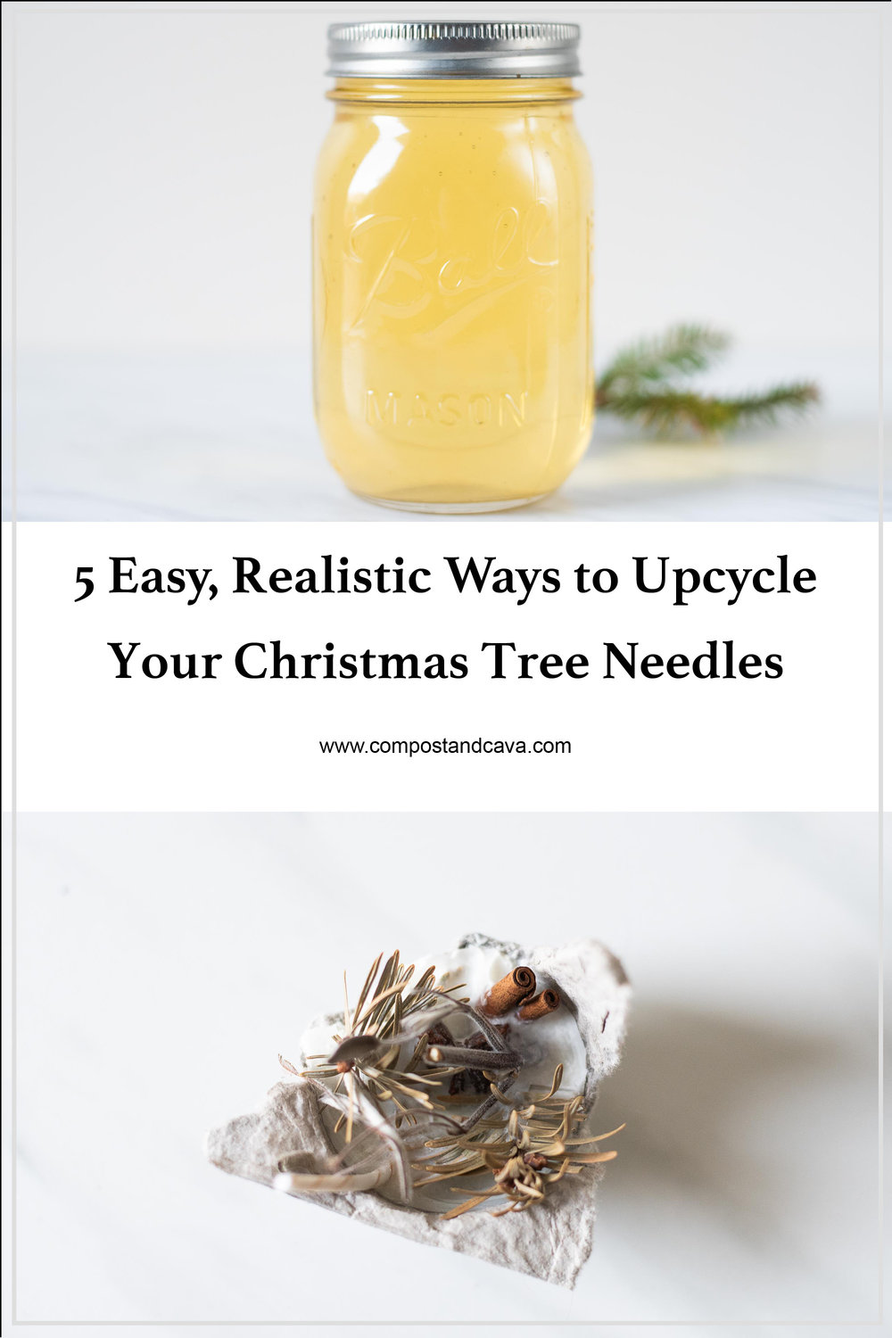 5 Easy, Realistic Ways to Upcycle Your Christmas Tree Needles