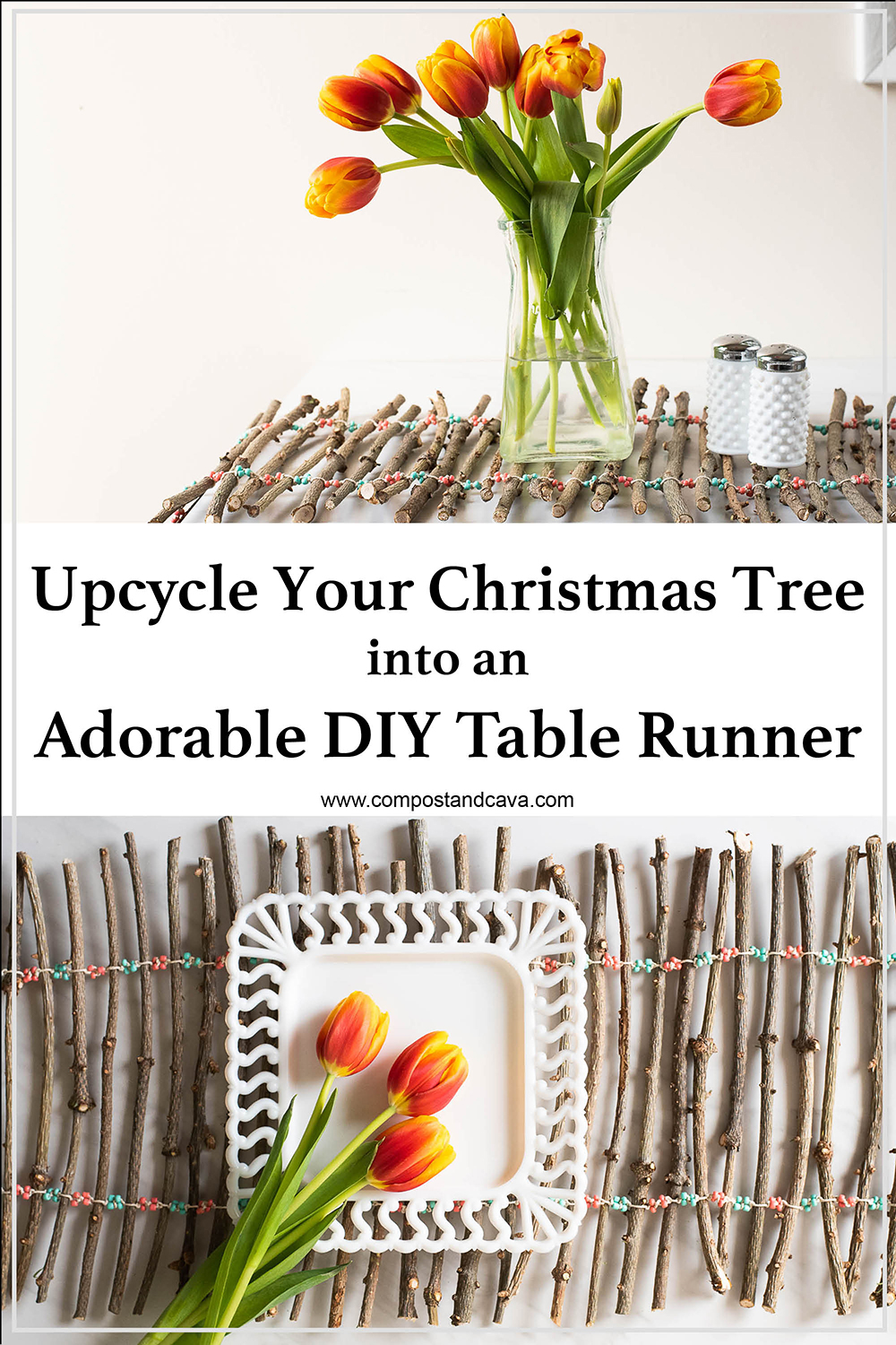 How to Upcycle Your Christmas Tree into an Adorable Table Runner for Zero Waste Living