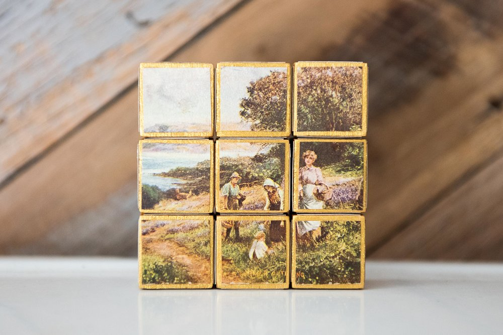 handmade wood block puzzle