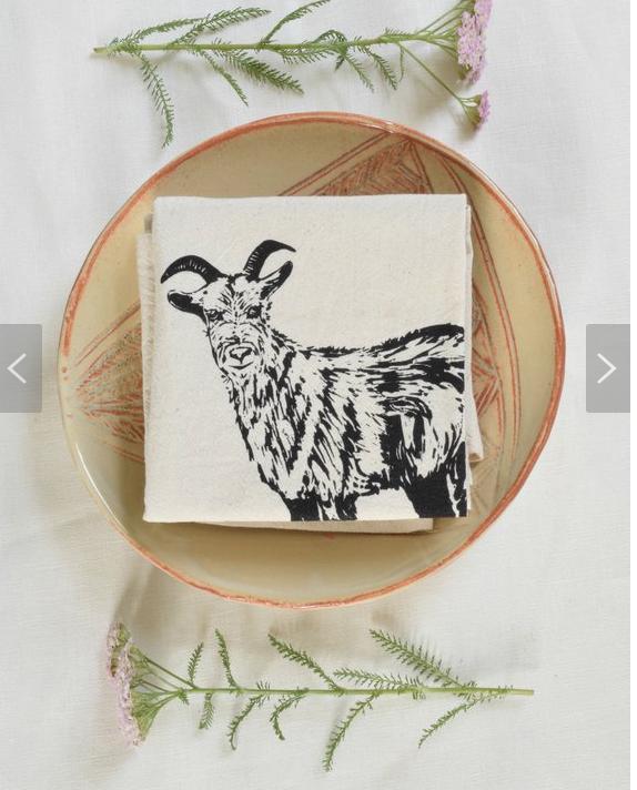 Organic Cotton Goat Napkins