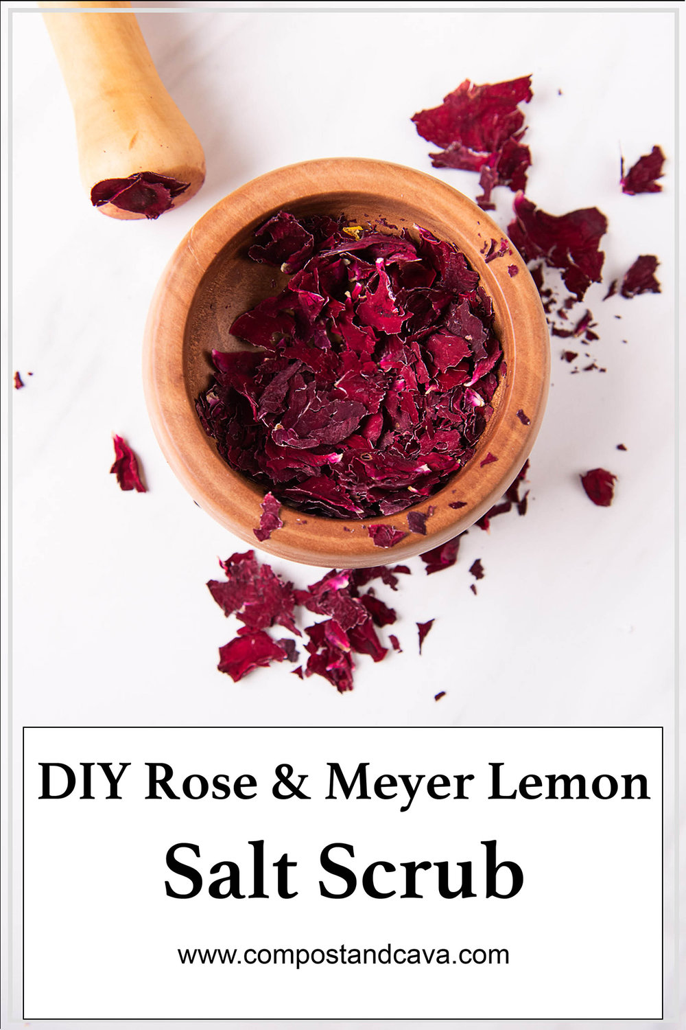 Upcycle Valentine's Bouquet into DIY Rose and Meyer Lemon Salt Scrub for Your Natural Beauty Routine