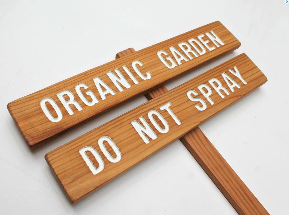 Do Not Spray Sign