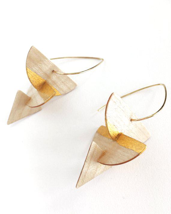 Salvaged Wood Earrings