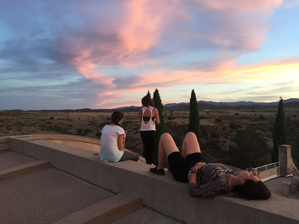 Watching a sunset on the roof of the vaults