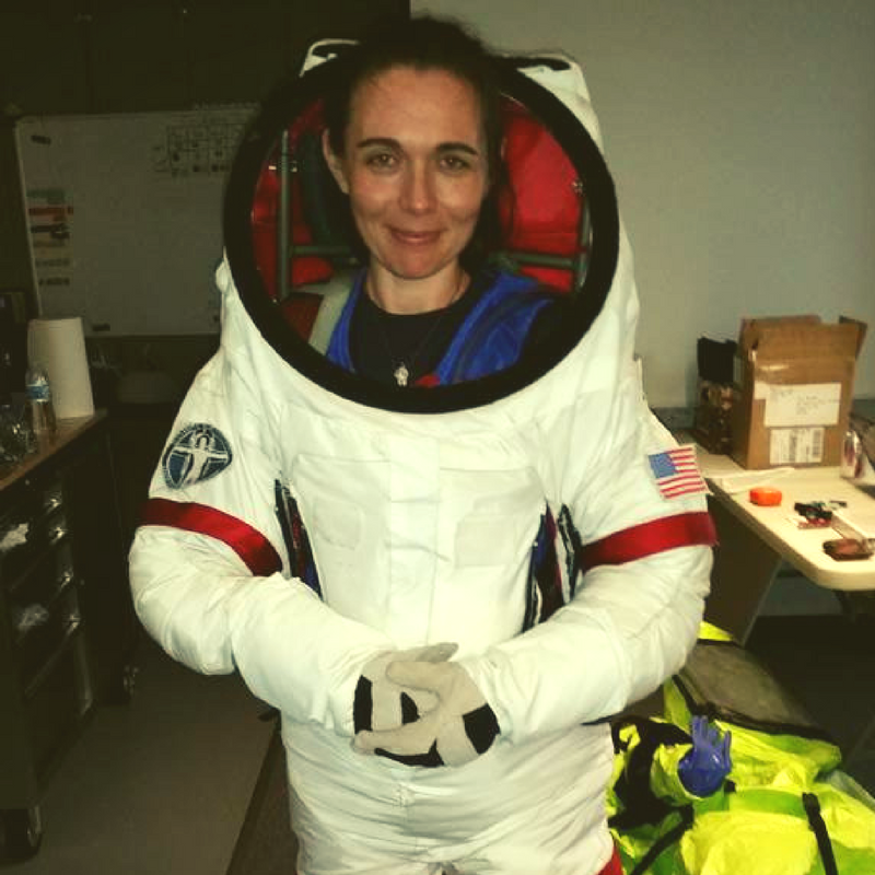 Sheyna Gifford simulated astronaut Mars space suit