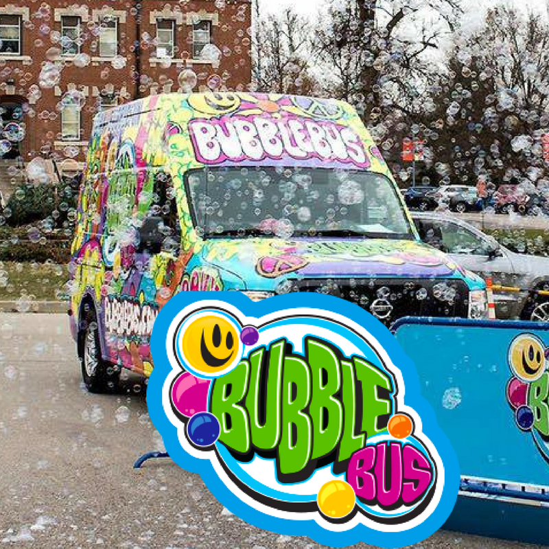 The first and only mobile business of its kind, the Bubble Bus brings interactive bubble-making magic to entertain a crowd.