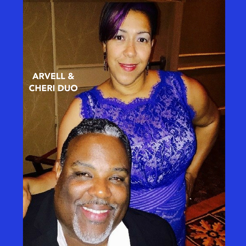 Arvell & Cheri Duo entertains audiences of all ages with their soulful voices and ability to move seamlessly through many musical genres, ncluding the hits from Motown, popular songs from the 70s, 80s, and 90s, plus current music of today.