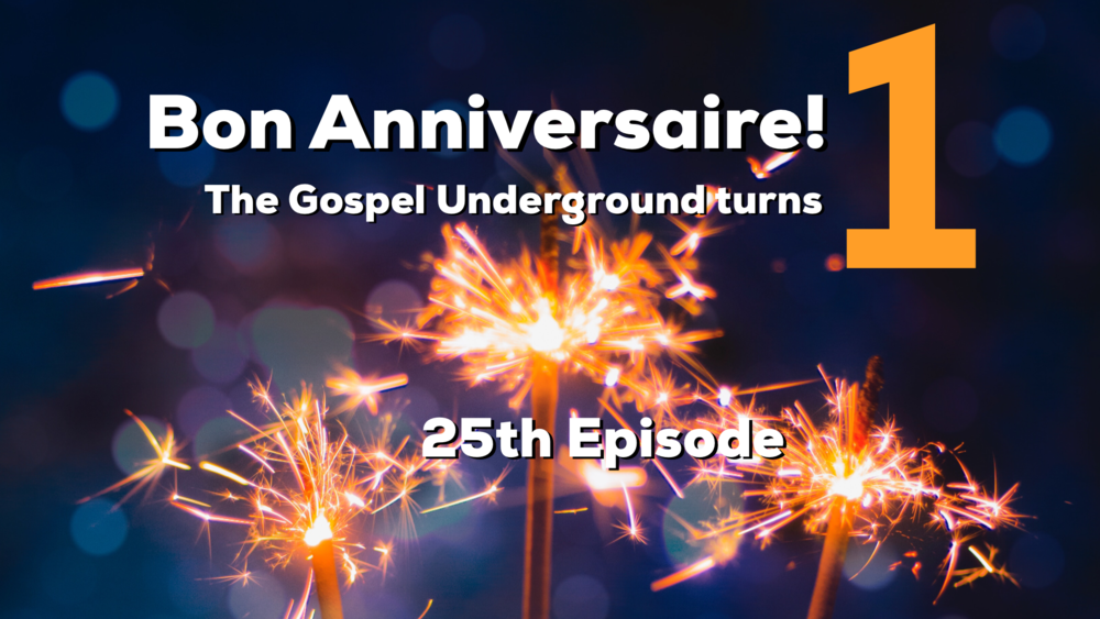 Reid and Jesse celebrate the first year of The Gospel Underground sharing their favorite episodes, look to the future and introducing RANTology