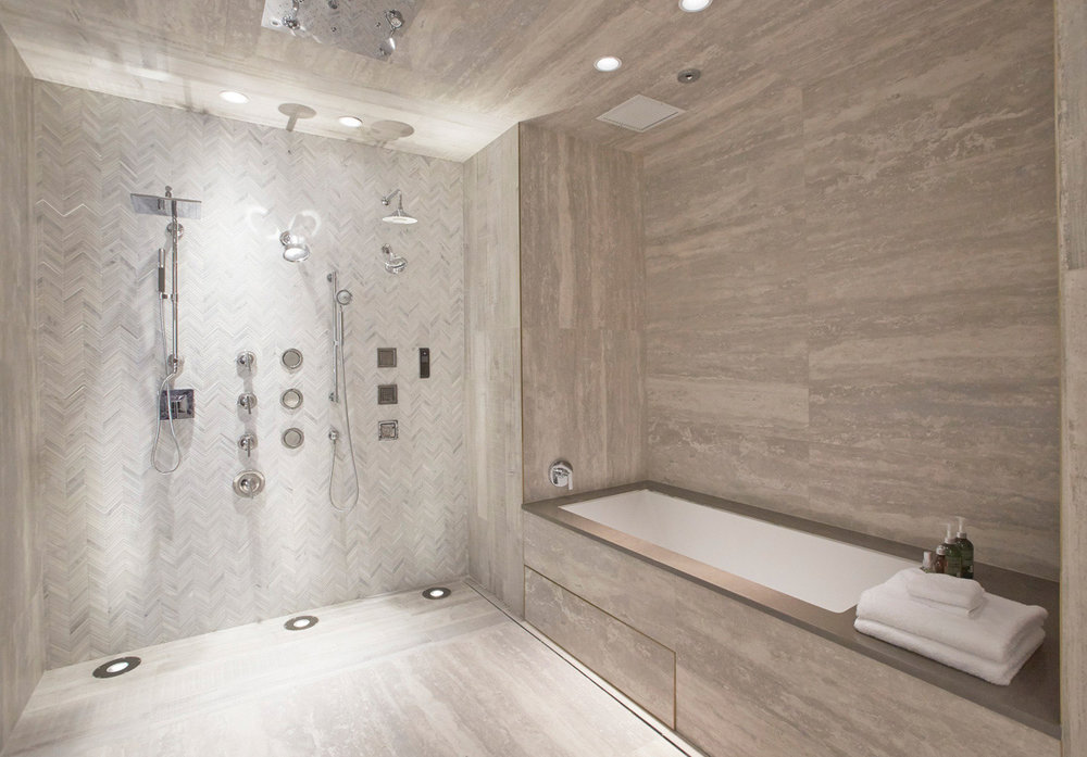 See full bathroom designs come to life with vanities, mirrors, wall materials, shower doors and more