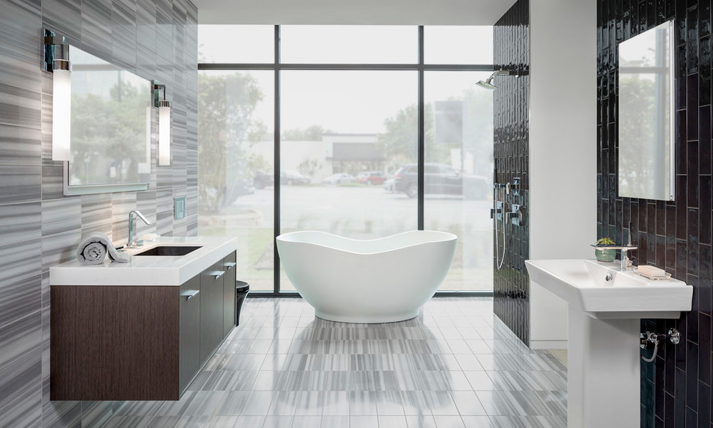 Explore full bathroom displays and get inspired