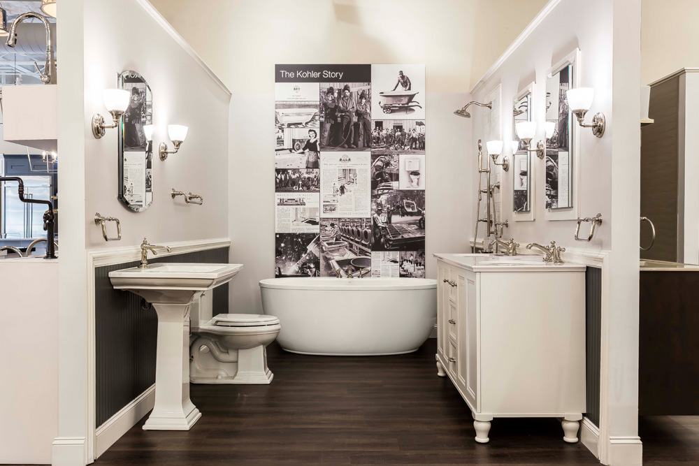 See stylish bathroom displays and get inspired