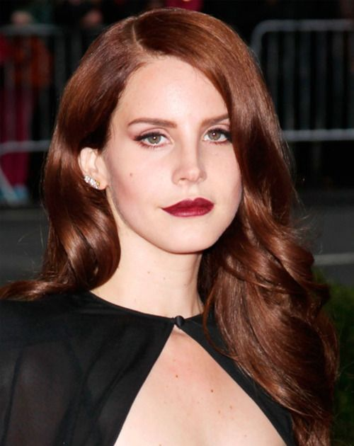 LANA DEL RAY WEARS BERRY RED