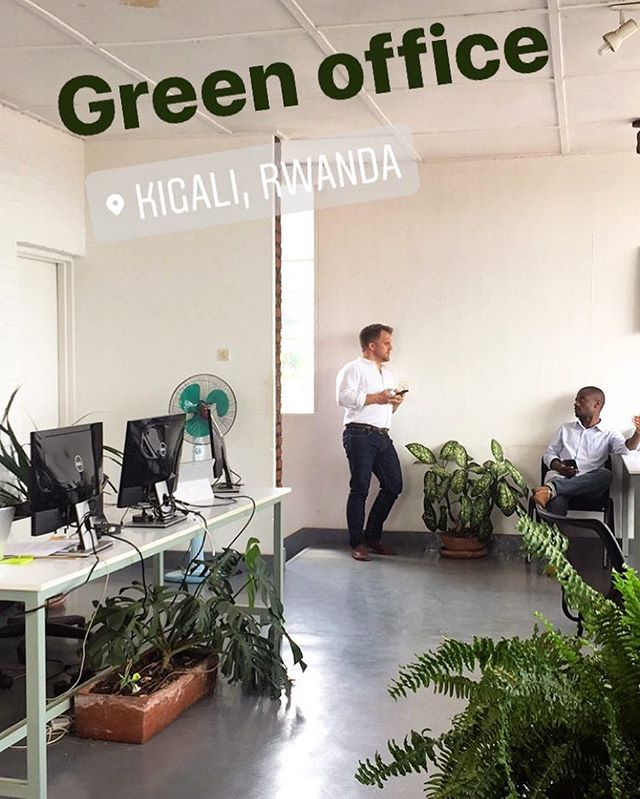 Kumwe HQ a.k.a. The Green Office.  We've recently opened a second office in the Kigali Economic Zone for Kumwe Harvest.