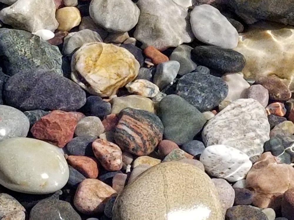 Some of Iona's beautiful rocks