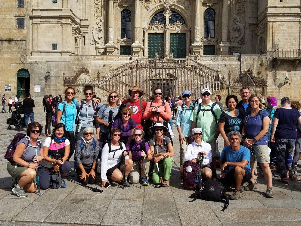 Our whole group made it to Santiago de Compostela!