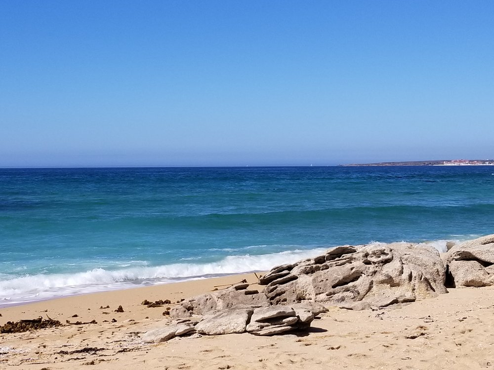 The beach on the last day.