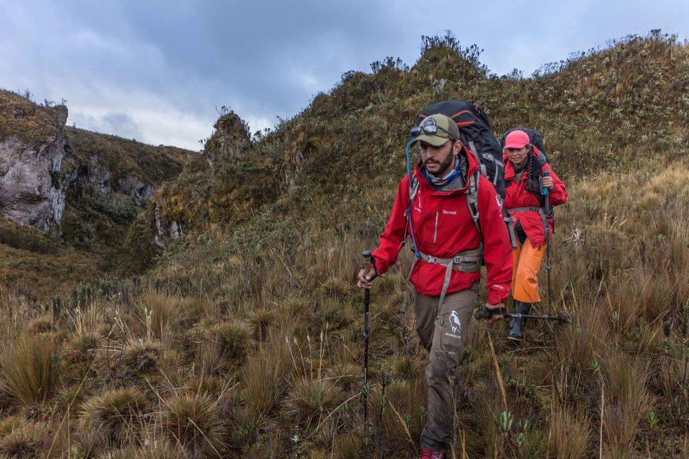 backpacking hike ecuador trail