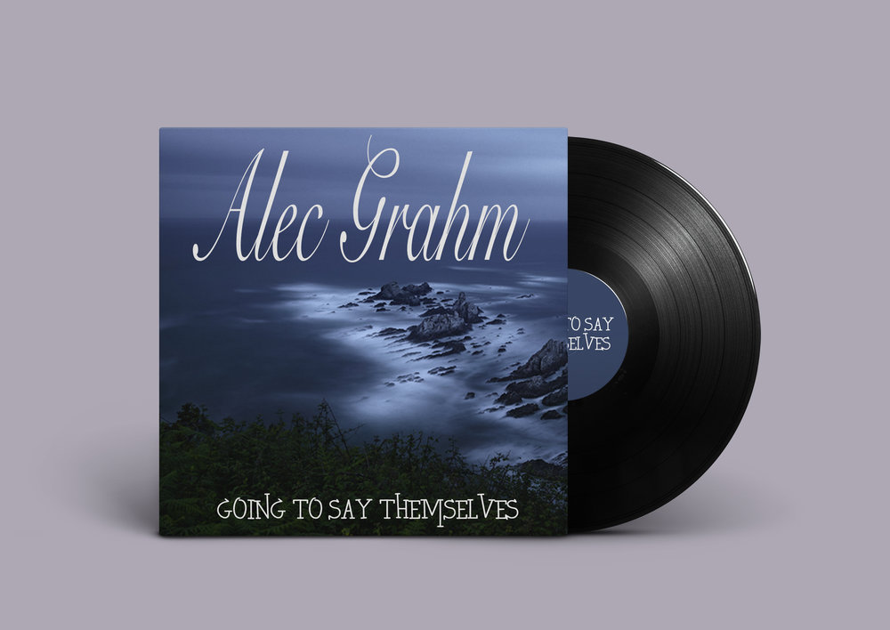 Going to Say Themselves by Alec Grahm - When someone listens to Alec Grahm's latest classical album Going to Say Themselves, they are transported to their calm place. Imagine yourself relaxing on the beach listening to the waves crashing. The elegant font for Alec's name compliments the soothing music found in his album. The slightly more modern font for the album name represents the slightly edgier violin parts found his in music.