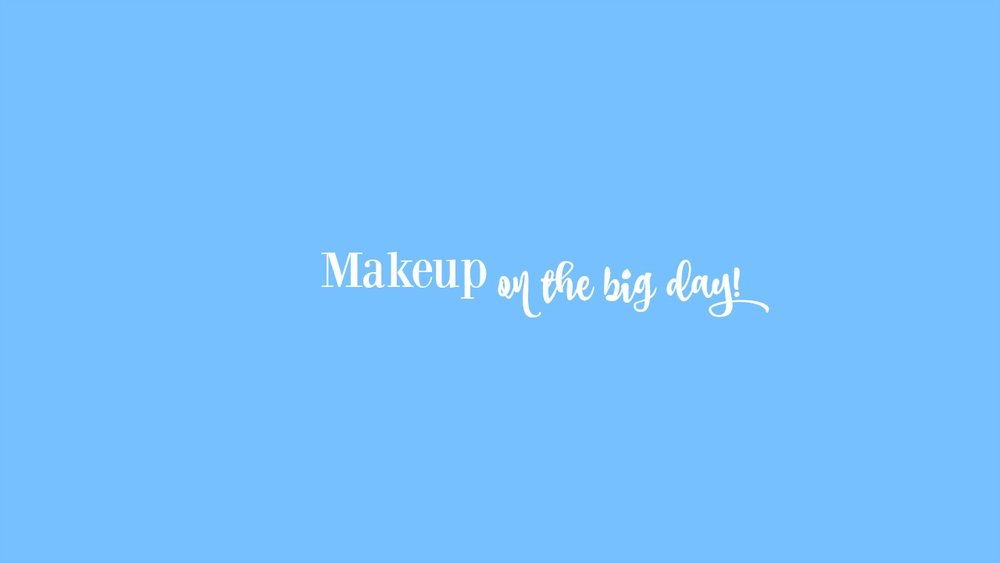 On the big day! - On your beautiful wedding day, we charge $50 per person.This is including you! Let us how many people would like their makeup done, and we can bring our team!Book today!