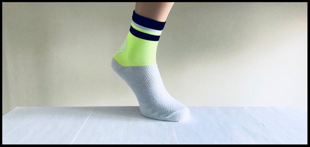 Coolmax performance sock for Precision Race Team.