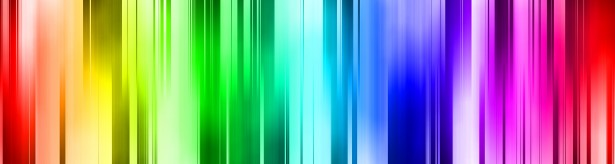 Rainbow colour banner
