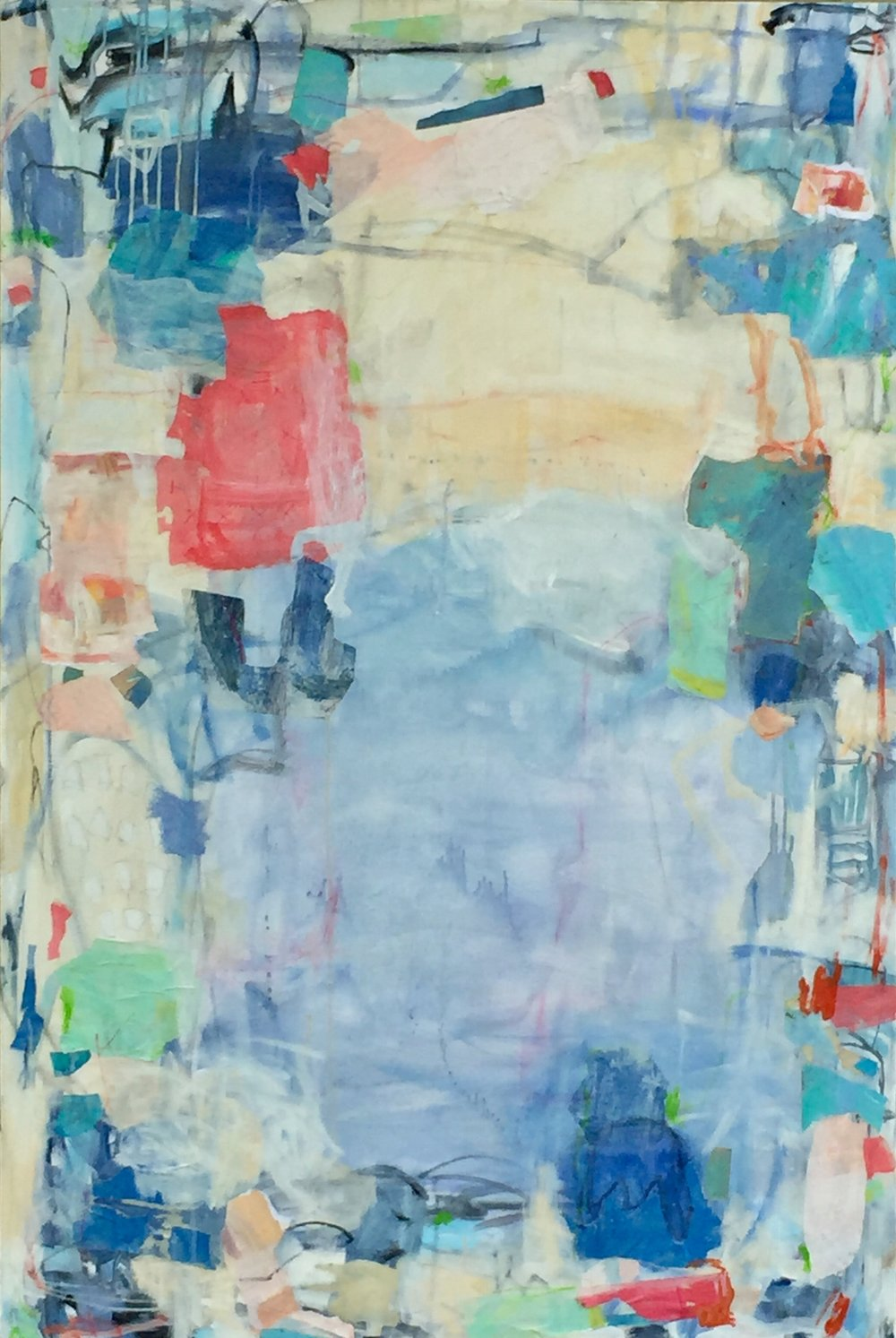 """36""""x60"""", mixed media on canvas  SOLD"""